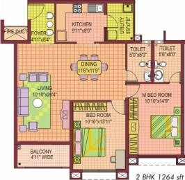 1264 sqft, 2 bhk Apartment in NCC Nagarjuna Aster Park Yelahanka, Bangalore at Rs. 80.0000 Lacs