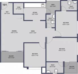 1710 sqft, 3 bhk Apartment in ICB Flora Gota, Ahmedabad at Rs. 53.0000 Lacs