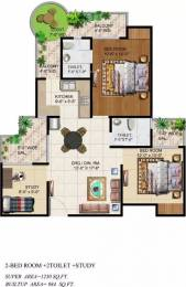 1230 sqft, 2 bhk Apartment in Ajnara Grand Heritage Sector 74, Noida at Rs. 16500