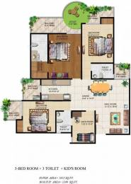 1815 sqft, 3 bhk Apartment in Ajnara Grand Heritage Sector 74, Noida at Rs. 24000