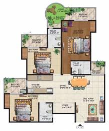 1665 sqft, 3 bhk Apartment in Ajnara Grand Heritage Sector 74, Noida at Rs. 22500