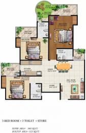 1665 sqft, 3 bhk Apartment in Ajnara Grand Heritage Sector 74, Noida at Rs. 23000