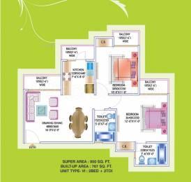 950 sqft, 2 bhk Apartment in Prateek Laurel Sector 120, Noida at Rs. 48.0000 Lacs