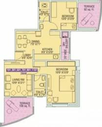 1081 sqft, 2 bhk Apartment in Tejas Poorva Residency Pimple Saudagar, Pune at Rs. 76.0000 Lacs