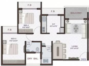 1075 sqft, 2 bhk Apartment in Platinum Venecia Nerul, Mumbai at Rs. 30000