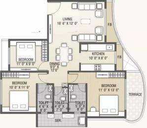 1650 sqft, 3 bhk Apartment in B and M Atlantis Ghansoli, Mumbai at Rs. 90000