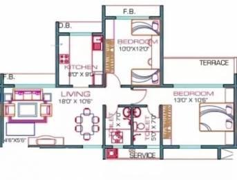 1090 sqft, 2 bhk Apartment in Priyanka Hill View Residency Belapur, Mumbai at Rs. 32000