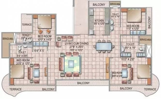 3250 sqft, 4 bhk Apartment in Siddhi Grandeur Kharghar, Mumbai at Rs. 80000