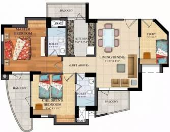 1285 sqft, 2 bhk Apartment in Assotech The Nest Crossing Republik, Ghaziabad at Rs. 9000