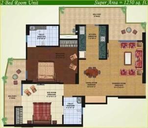 1250 sqft, 2 bhk Apartment in Saviour Greenisle Crossing Republik, Ghaziabad at Rs. 9500
