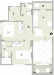 870 sqft, 2 bhk Apartment in Hubtown Iris Mira Road East, Mumbai at Rs. 61.0000 Lacs