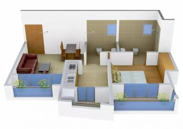 660 sqft, 1 bhk Apartment in Buddha Ozone 3 Mira Road East, Mumbai at Rs. 48.0000 Lacs