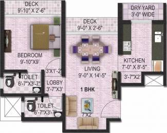 750 sqft, 1 bhk Apartment in Man Man Opus Mira Road East, Mumbai at Rs. 58.0000 Lacs