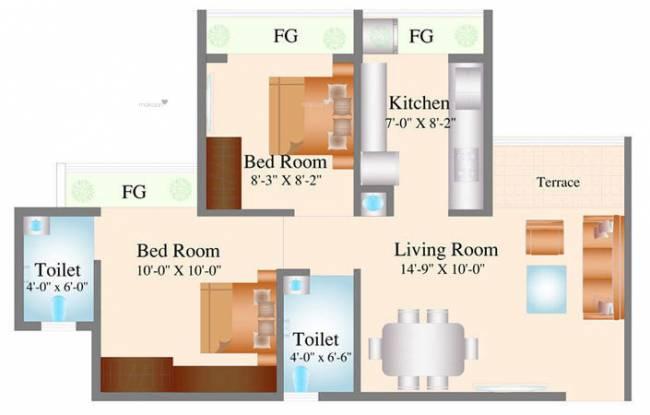 950 sqft, 2 bhk Apartment in Navkar City Phase 1 Naigaon East, Mumbai at Rs. 36.5000 Lacs