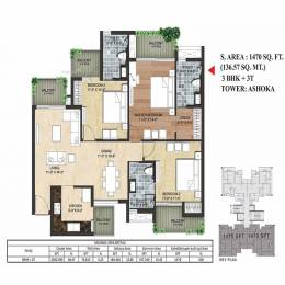 1470 sqft, 3 bhk Apartment in Sikka Kimaantra Greens Villa Sector 79, Noida at Rs. 65.7800 Lacs