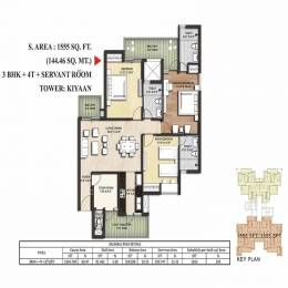 1555 sqft, 3 bhk Apartment in Sikka Kimaantra Greens Villa Sector 79, Noida at Rs. 69.5800 Lacs