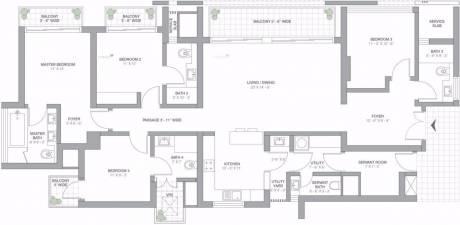 2625 sqft, 4 bhk Apartment in TATA Primanti Sector 72, Gurgaon at Rs. 1.8889 Cr
