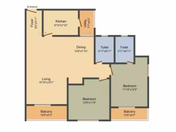1325 sqft, 2 bhk Apartment in TATA Ariana Kalinga Nagar, Bhubaneswar at Rs. 25000