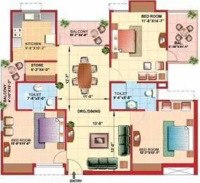 1672 sqft, 3 bhk Apartment in Kajaria Greens Sector 15 Bhiwadi, Bhiwadi at Rs. 60.0000 Lacs