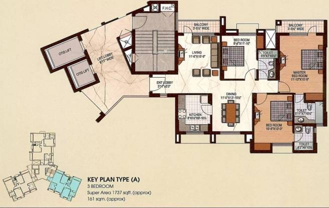 1737 sqft, 3 bhk Apartment in Uppal Plumeria Garden Estate Omicron, Greater Noida at Rs. 49.0000 Lacs