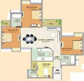 1435 sqft, 3 bhk Apartment in SDS NRI Residency Omega, Greater Noida at Rs. 13500