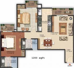 1200 sqft, 2 bhk Apartment in MI Central Park Butler Colony, Lucknow at Rs. 42.0000 Lacs