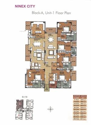 5570 sqft, 5 bhk Apartment in Ninex City Sector 76, Gurgaon at Rs. 2.5000 Cr