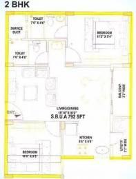 792 sqft, 2 bhk Apartment in Aryan Aryan Orchid Marsur, Bangalore at Rs. 28.0000 Lacs