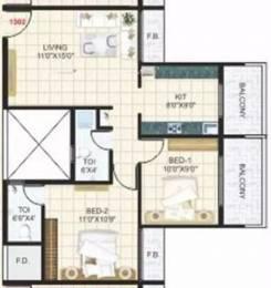 1050 sqft, 2 bhk Apartment in Platinum S M Plaza Taloja, Mumbai at Rs. 54.0000 Lacs