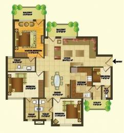 1608 sqft, 3 bhk Apartment in Sare Green Parc Sector 92, Gurgaon at Rs. 65.0000 Lacs