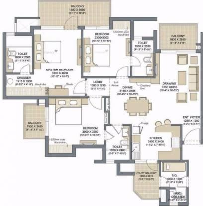 1895 sqft, 3 bhk Apartment in Microtek Greenburg Sector 86, Gurgaon at Rs. 1.3500 Cr