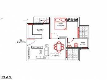 606 sqft, 1 bhk Apartment in Builder Project Thanisandra Main Road Kothnu, Bangalore at Rs. 20.2340 Lacs