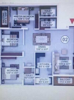 1540 sqft, 3 bhk Apartment in Builder Project Gorigudda Road, Mangalore at Rs. 73.0000 Lacs