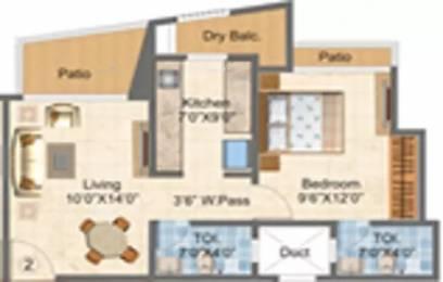 690 sqft, 1 bhk Apartment in GNC Shree Shashwat II Mira Road East, Mumbai at Rs. 47.6100 Lacs