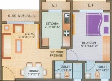 624 sqft, 1 bhk Apartment in Sunrise Parkville Neral, Mumbai at Rs. 20.0000 Lacs
