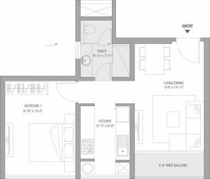 730 sqft, 1 bhk Apartment in TATA Serein Thane West, Mumbai at Rs. 81.0000 Lacs