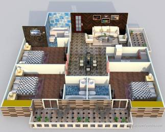 1625 sqft, 3 bhk Apartment in Omega Orchid Heights Uattardhona, Lucknow at Rs. 15000