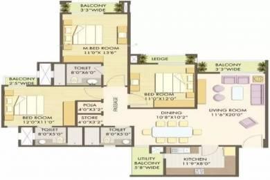1920 sqft, 3 bhk Apartment in Godrej Anandam Ganeshpeth, Nagpur at Rs. 1.3000 Cr