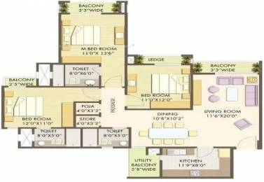 1920 sqft, 3 bhk Apartment in Godrej Anandam Ganeshpeth, Nagpur at Rs. 35000