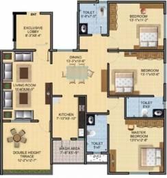 1760 sqft, 3 bhk Apartment in SDPL Shree Swaminarayan Enclave Ganeshpeth, Nagpur at Rs. 16000