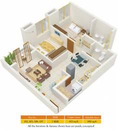 850 sqft, 1 bhk Apartment in Amanora Trendy Homes Hadapsar, Pune at Rs. 70.0000 Lacs