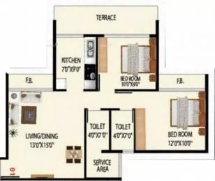 1050 sqft, 2 bhk Apartment in Today Grande Vista Ulwe, Mumbai at Rs. 25000