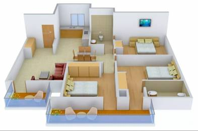 1807 sqft, 3 bhk Apartment in Raheja Atharva Sector 109, Gurgaon at Rs. 16000
