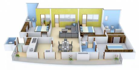 2050 sqft, 3 bhk Apartment in Chintels Paradiso Sector 109, Gurgaon at Rs. 20000