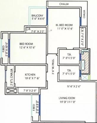 1306 sqft, 2 bhk Apartment in Prescon Prestige Residency Thane West, Mumbai at Rs. 1.0600 Cr