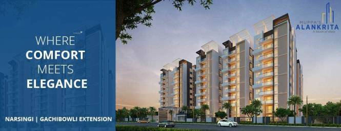 1460 sqft, 2 bhk Apartment in Muppa Alankrita Narsingi, Hyderabad at Rs. 61.7500 Lacs