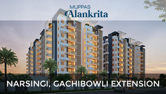 2060 sqft, 3 bhk Apartment in Muppa Alankrita Narsingi, Hyderabad at Rs. 85.2545 Lacs