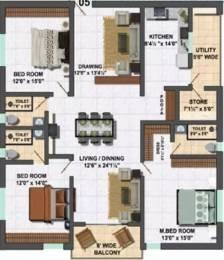 2160 sqft, 3 bhk Apartment in My Home Vihanga Gachibowli, Hyderabad at Rs. 1.3200 Cr