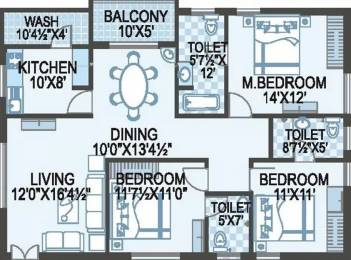 1700 sqft, 3 bhk Apartment in ACE Atlantis Manikonda, Hyderabad at Rs. 93.0000 Lacs