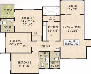 1616 sqft, 3 bhk Apartment in Naiknavare Mystique Moods Viman Nagar, Pune at Rs. 1.4500 Cr